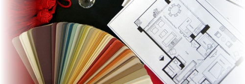Paint color swatch and floor plans